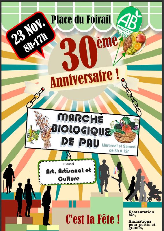 anniversaire du marché bio de PAU
